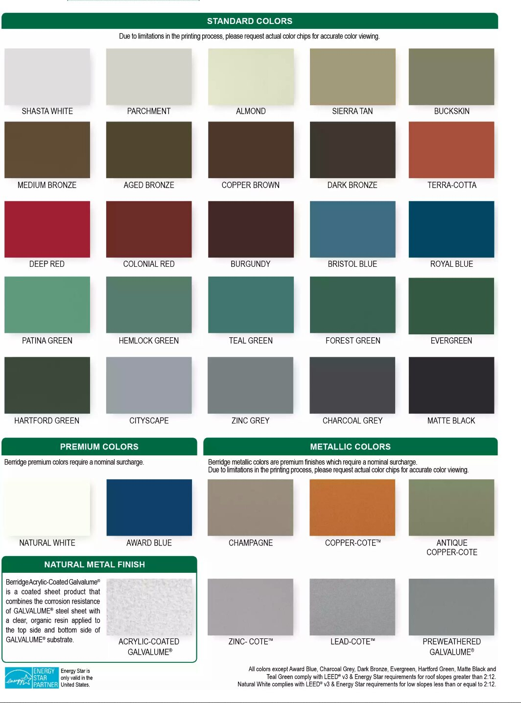 Colors – BERLIN ROOFING & ENERGY SOLUTIONS, LLC